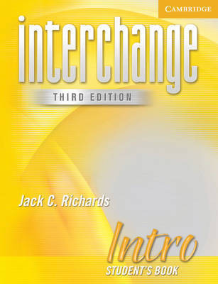 Interchange Intro Student's Book by Jack C Richards