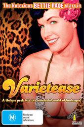 Bettie Page - Varietease on DVD