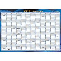 Writeraze Unlaminated 2017 NZ Year Planner - 500 x 700mm