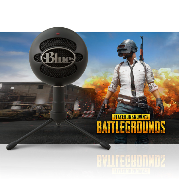 Blue Microphones Snowball iCE USB Condenser Microphone (Black PUBG Edition) for PC
