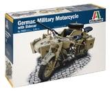Italeri: 1/9 German Military Motorcycle W/sidecar - Model Kit