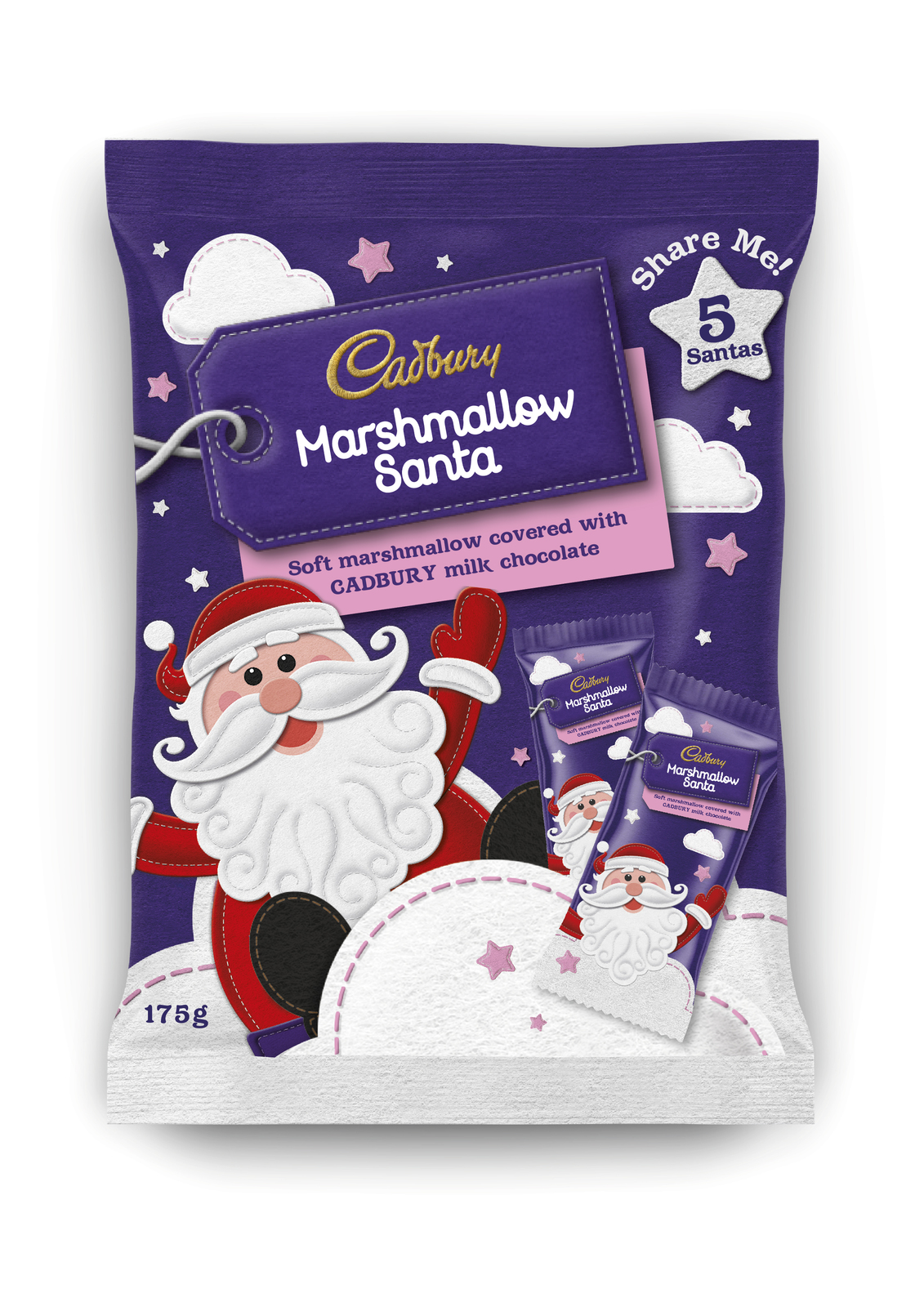 Cadbury Marshmallow Santa Multipack (175g) image