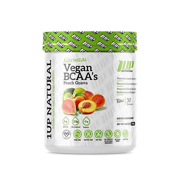 1Up Nutrition: Natural Vegan BCAA - Raspberry Lemonade (30 Serve)