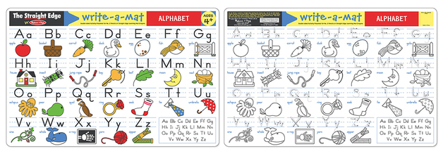 Melissa & Doug: Alphabet Write-a-Mat