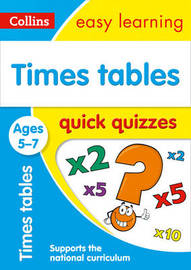 Times Tables Quick Quizzes Ages 5-7 by Collins Easy Learning image