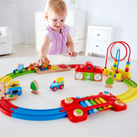 Hape: Rainbow Puzzle Railway Playset