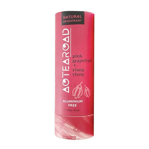 Aotearoad Natural Deodorant - Ylang Ylang + Pink Grapefruit (60g)