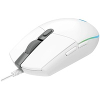 Logitech G203 LIGHTSYNC RGB Gaming Mouse (White) for PC