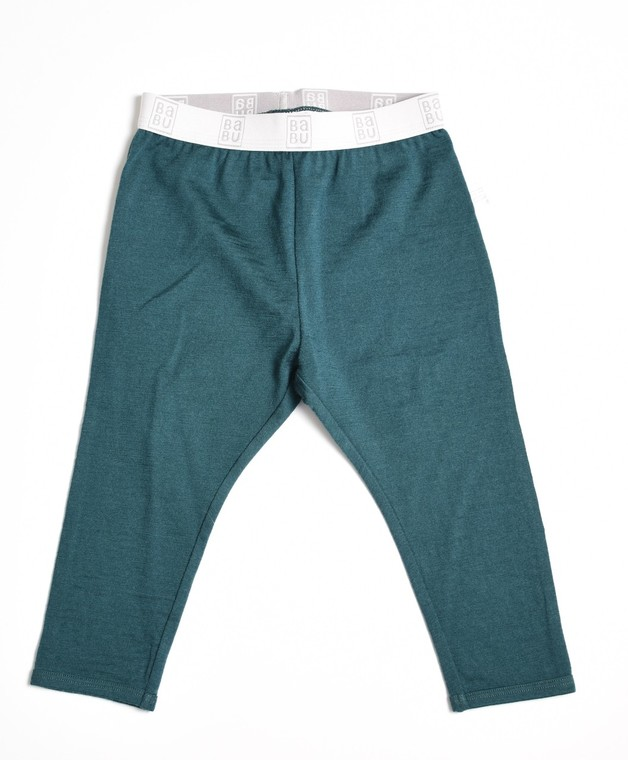 Babu: Merino Footless Leggings - Tui Green (4 Years)
