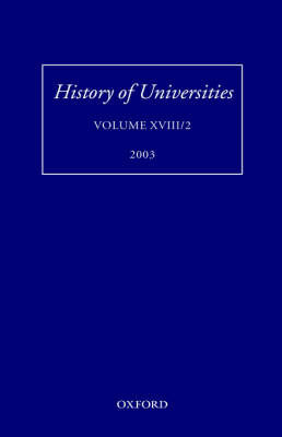 History of Universities, Volume XVIII/2 2003 image