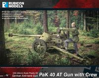 Rubicon 1/56 German PaK 40 AT Gun with Crew