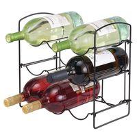 InterDesign Classico 9 Holder Wine Rack - Matte Black