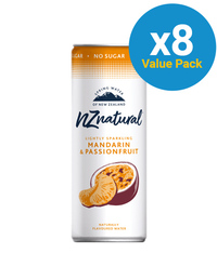 NZ Natural Sparkling Mandarin Spring Water 250ml (8 Pack) image