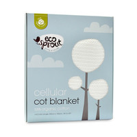 Ecosprout: Organic Cotton Cellular Blanket (Cot)