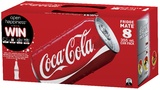 Coca-Cola Soft Drink Cans - 8 Pack (355ml)