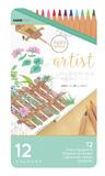 Kaisercraft Artist Coloured Pencils (12pc Tin)