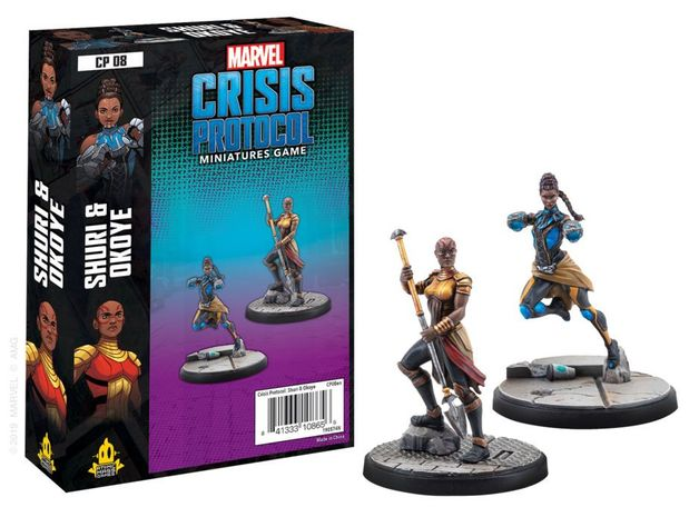 Marvel Crisis Protocol Miniatures Game Shuri & Okoye Expansion