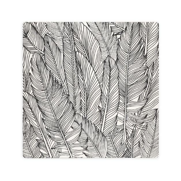 Splosh: Tranquil Feather Pattern Ceramic Coaster