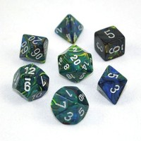 Chessex Signature Polyhedral Dice Set Festive Green/Silver