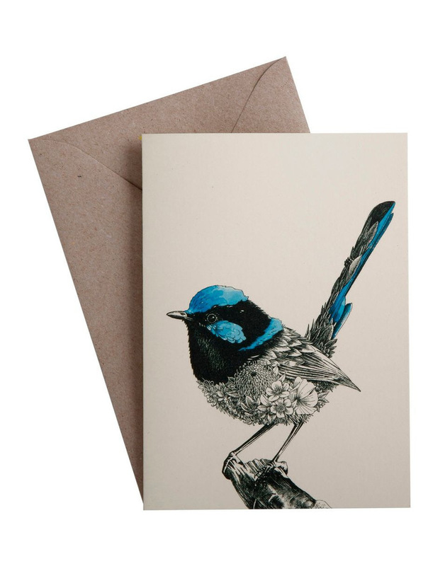 Maxwell & Williams: Marini Ferlazzo Birds Greeting Cards - Fairy Wren