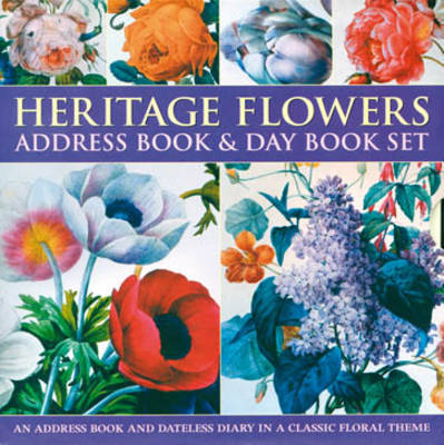Heritage Flowers Address Book & Day Book Box Set