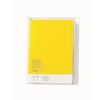 Colours 2018 Weekly A6 Diary - Yellow