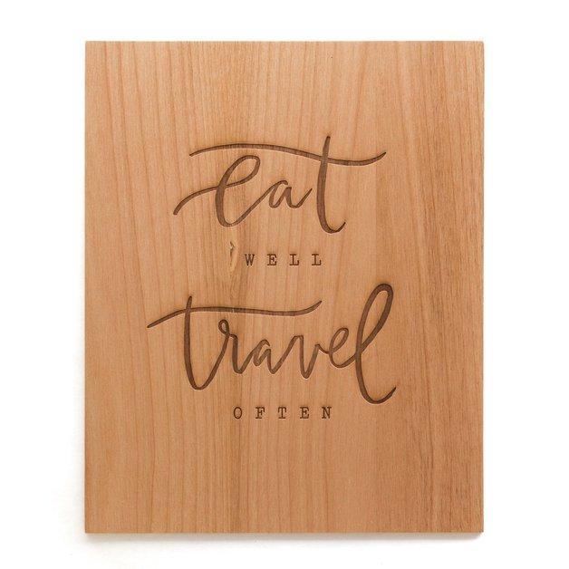 Cardtorial Print - Eat Well Travel Often