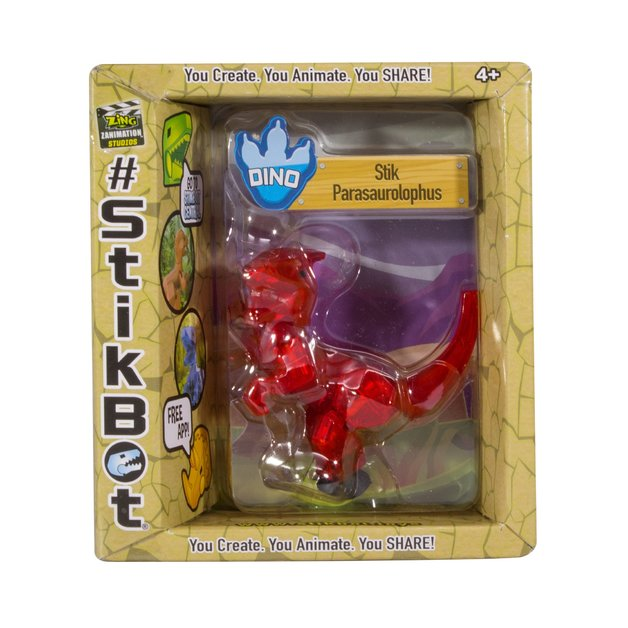 Stikbot: Dino Single - Parasaurolophus (Red)