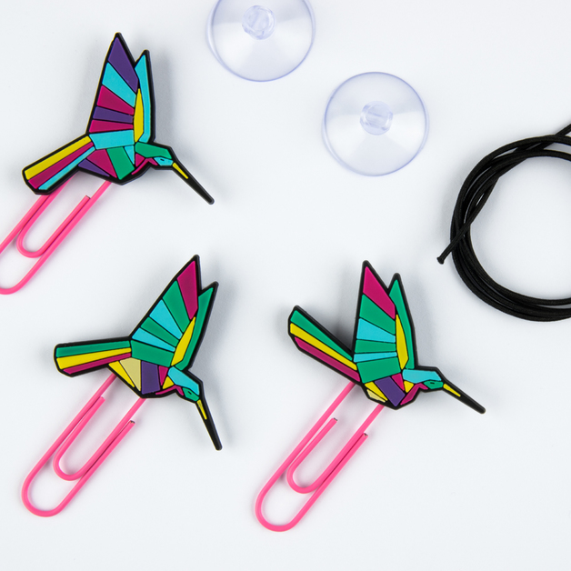 Mustard: Picture Hangers / Note Clips - Origami (Set of 6)