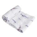 Little Unicorn - Single Cotton Muslin Swaddle - Narwhal