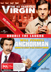 40 Year Old Virgin / Anchorman - Double Pack (2 Disc Set) on DVD