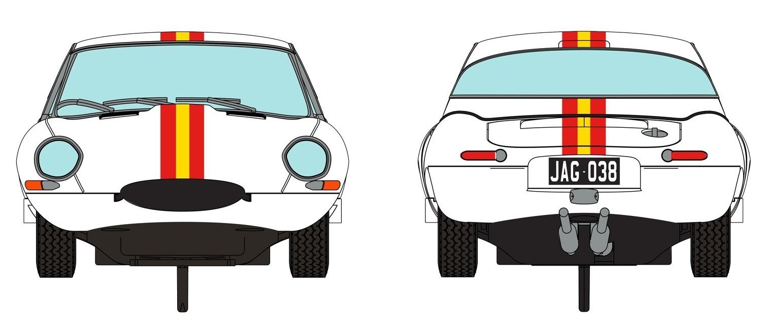 Scalextric: DPR Jaguar E Type 1965 Bathurst - Slot Car image