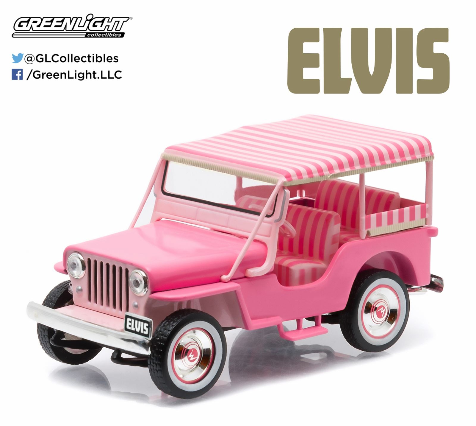 1/43: Jeep Surrey CJ3B - Elvis - Diecast Model image