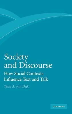Society and Discourse by Teun A.Van Dijk image