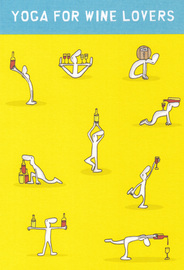 Harold's Planet Greeting Card - Yoga