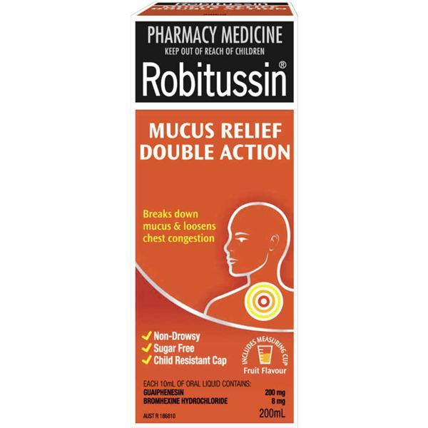 Robitussin Mucus Relief Double Action (200ml Bottle)