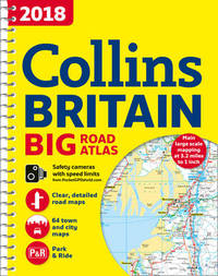 2018 Collins Big Road Atlas Britain by Collins Maps