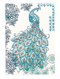 Journal : Handmade LG Embroidered - Peacock image