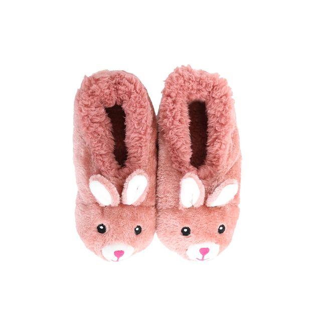Slumbies: Bunny Furry Critters - Kids Slippers (Medium)