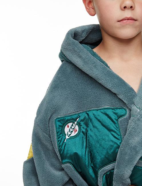 Star Wars Boba Fett Kids Fleece Dressing Gown with Hood (Large ...