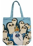 Adventure Time Ice King and Gunter Canvas Tote Bag