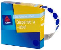 Avery Blue 14mm Diameter Circle Dispenser Labels Pkt1050