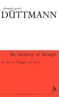 Memory of Thought by Alexander Garcia Duttmann