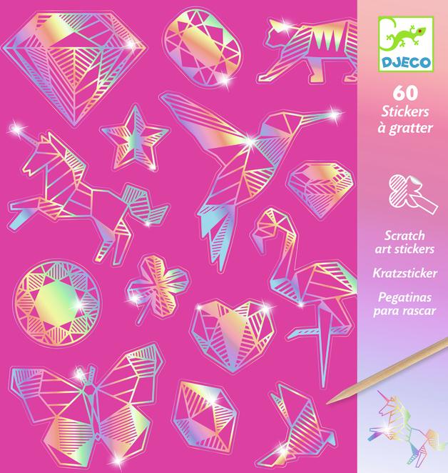 Djeco: Scratch Card Art - Diamonds