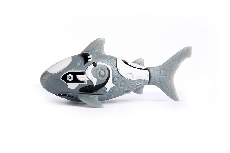 Zuru robo fish grey shark images at mighty ape australia for Zuru robo fish