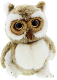 Silky Softs: Brown Hoots Owl Plush (30cm)