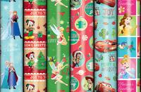 Disney Christmas Tall Roll Wrap - Assorted (3m)