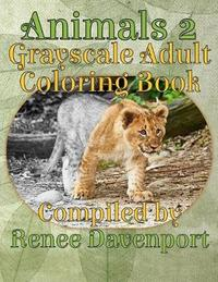 Animals 2 Grayscale Adult Coloring Book by Renee Davenport image