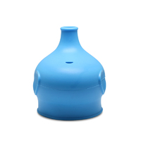 Haakaa: Silicone Elephant Sippy Top - Blue image