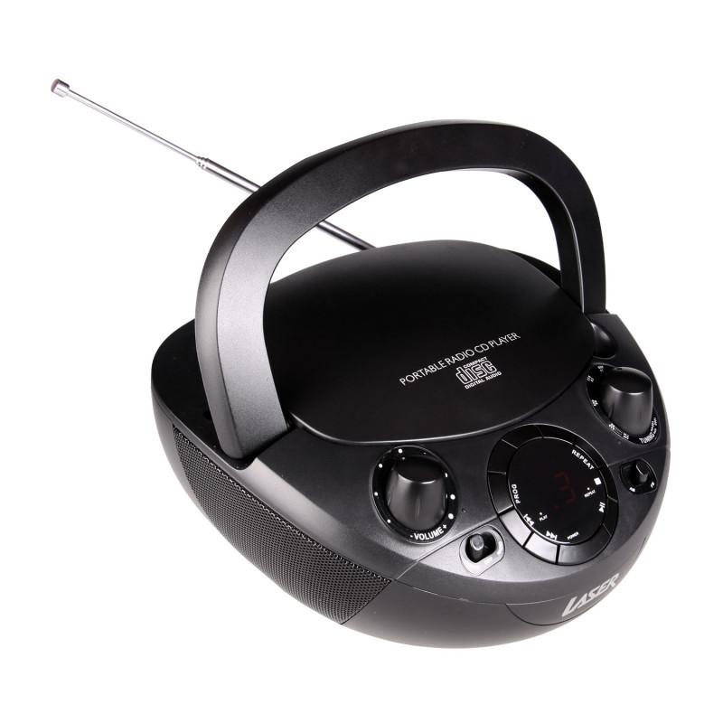CD BOOMBOX WITH AM/FM Radio BLACK image